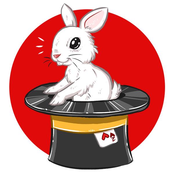 Martin le Magicien - Rabbit Bunny Illustration