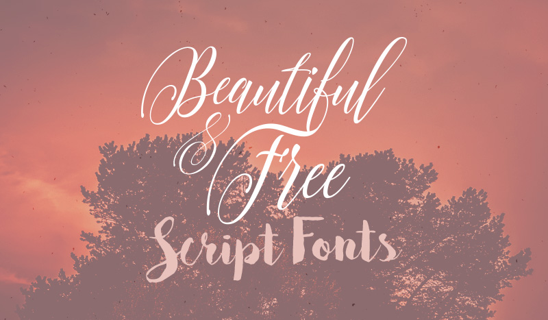 10 Beautiful & Free Script Brush Fonts