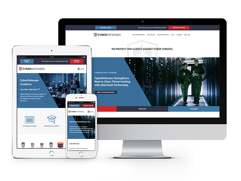 CyberDefenses Web Design