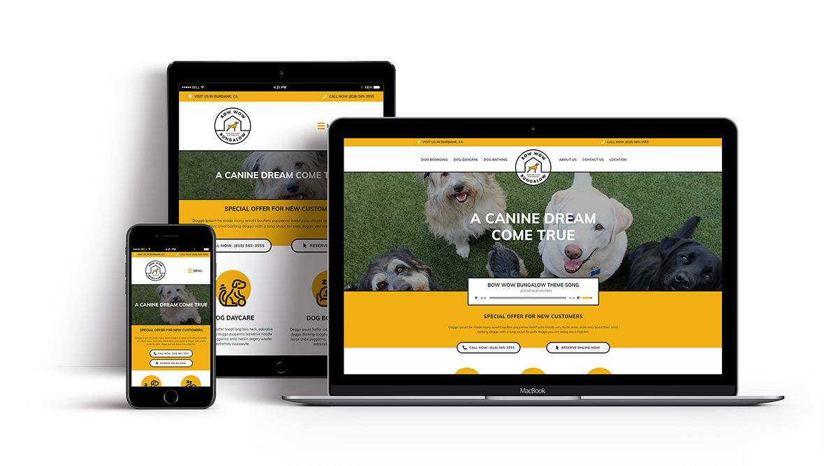Templates for Nehmedia - Pet Resort Website
