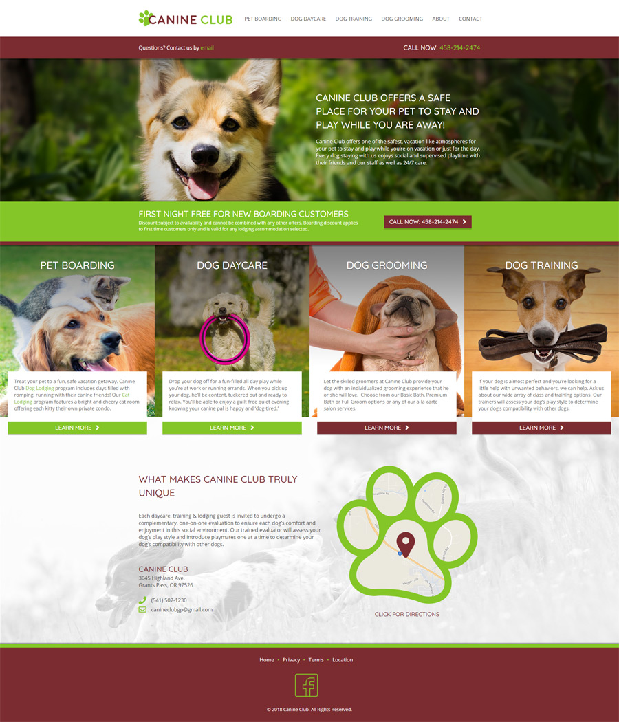 Web Design Work - Nehmedia - Pet Resort Marketing