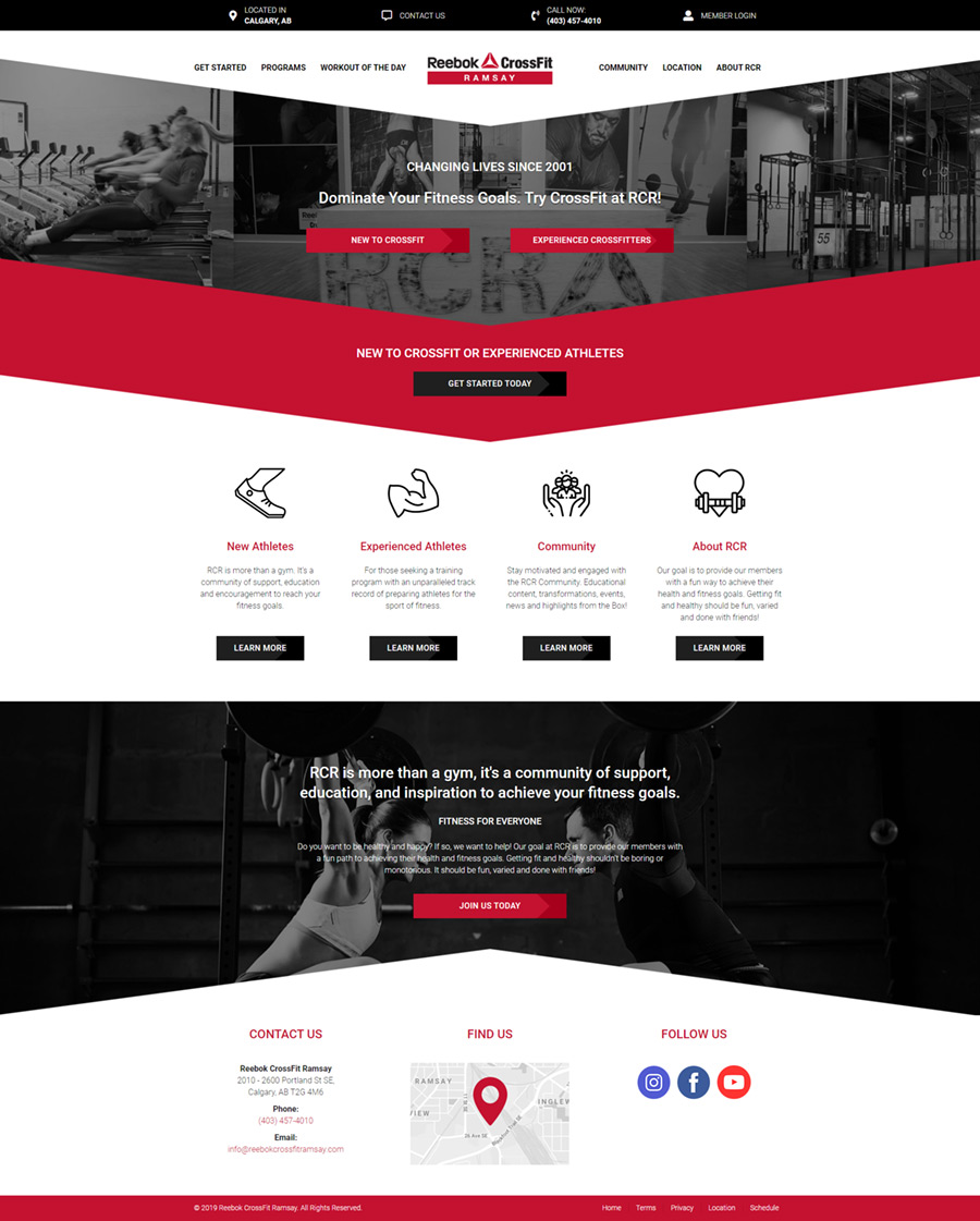 Web Design Work - Nehmedia - Crossfit Website