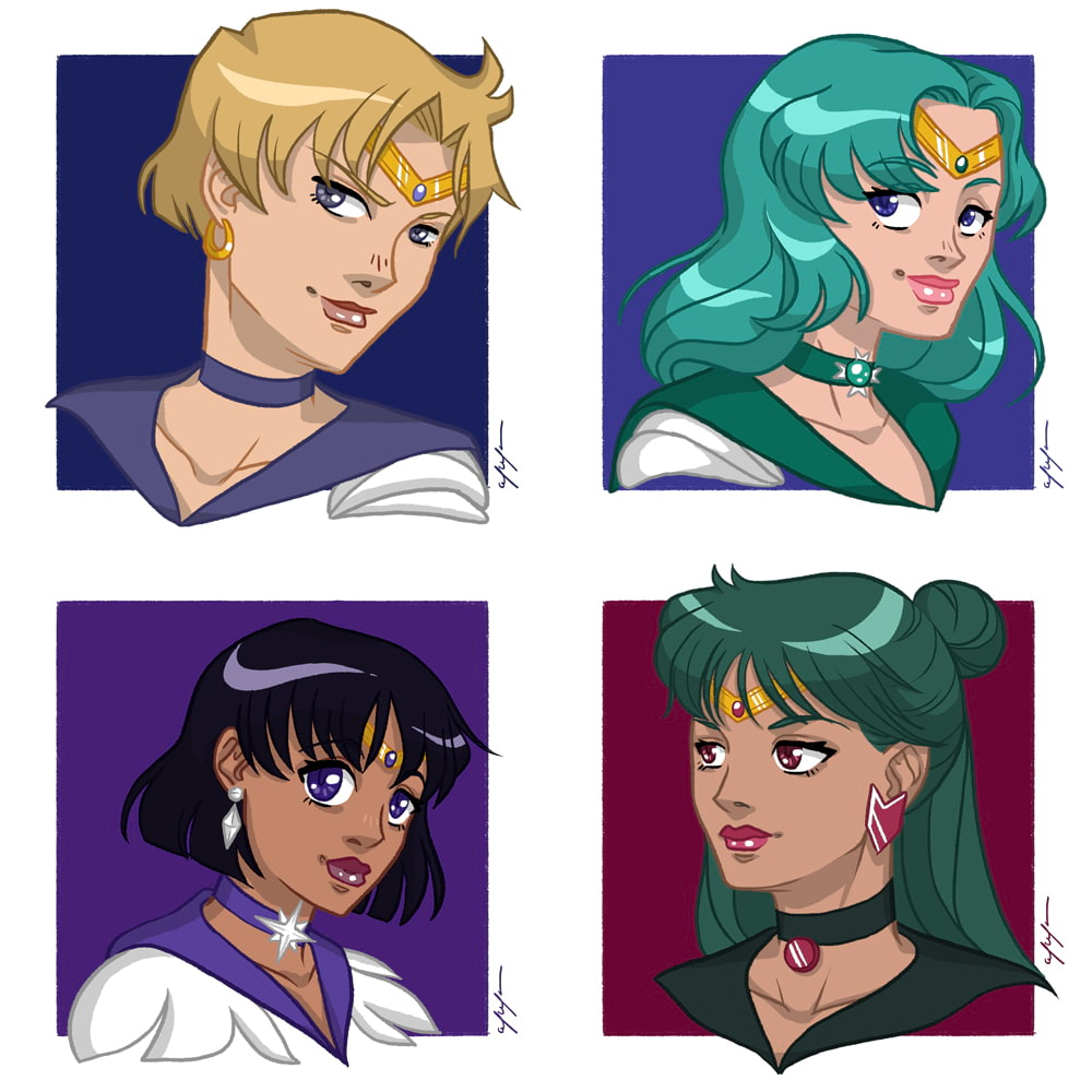 Outer Sailor Scouts by Tina Mailhot-Roberge, vervex