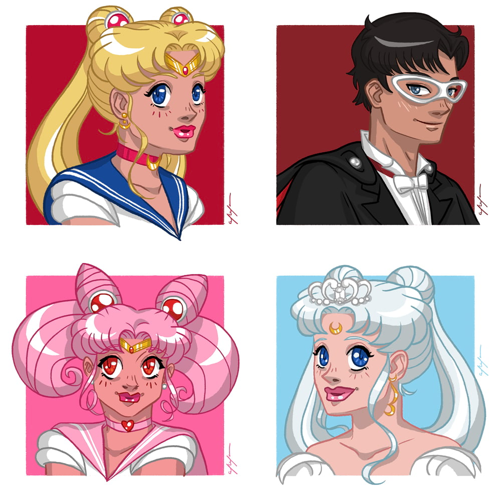 Sailor Moon by Tina Mailhot-Roberge, vervex
