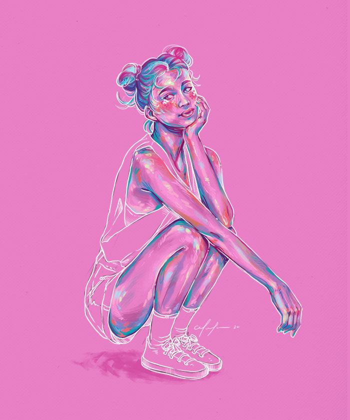 Rainbow Girl 76 by Tina Mailhot-Roberge, vervex