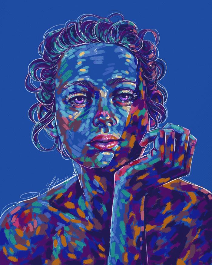 Rainbow Girl 78 by Tina Mailhot-Roberge, vervex