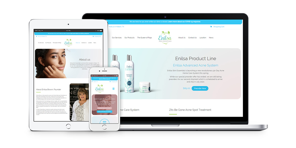 Enilsa.co Website Ecommerce Design and Store