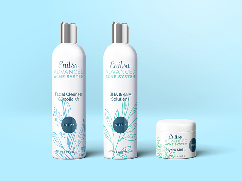 Enilsa Advanced Acne System Bottle Design