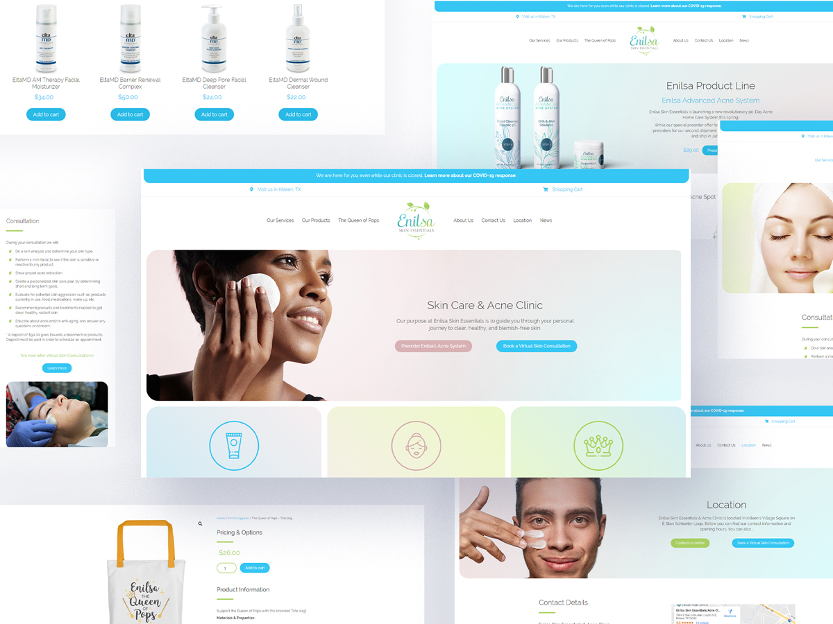 Enilsa Skin Essentials Website Design & Development