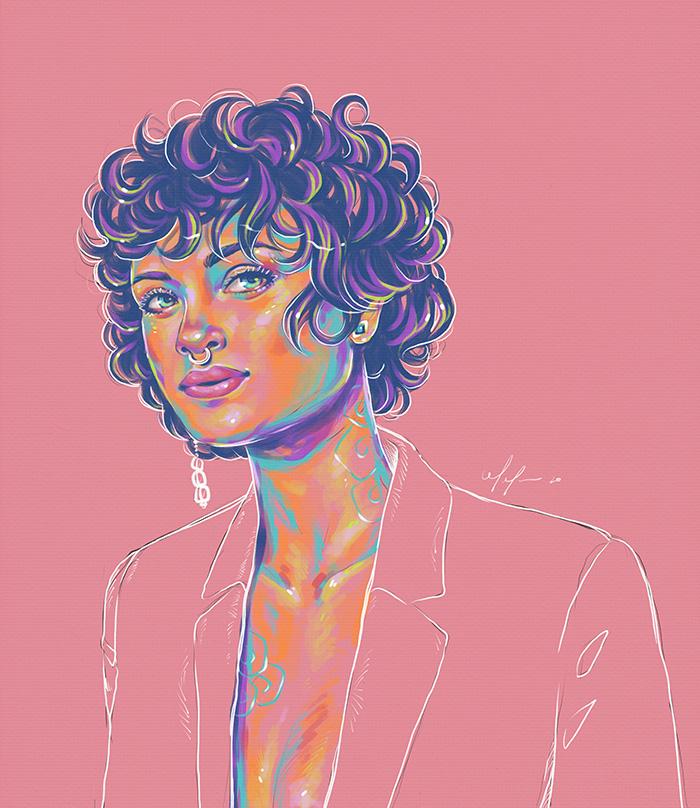 Rainbow Girl 81 by Tina Mailhot-Roberge, vervex