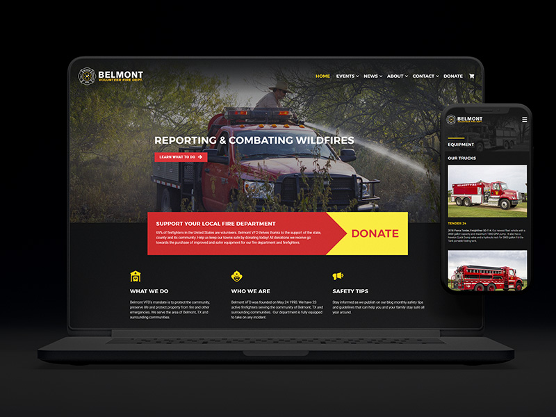 Belmont VFD Web Design and Development