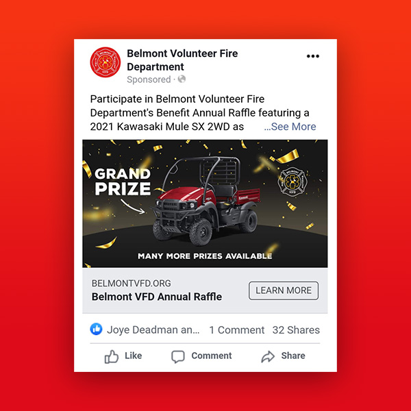 Belmont VFD Facebook Ads