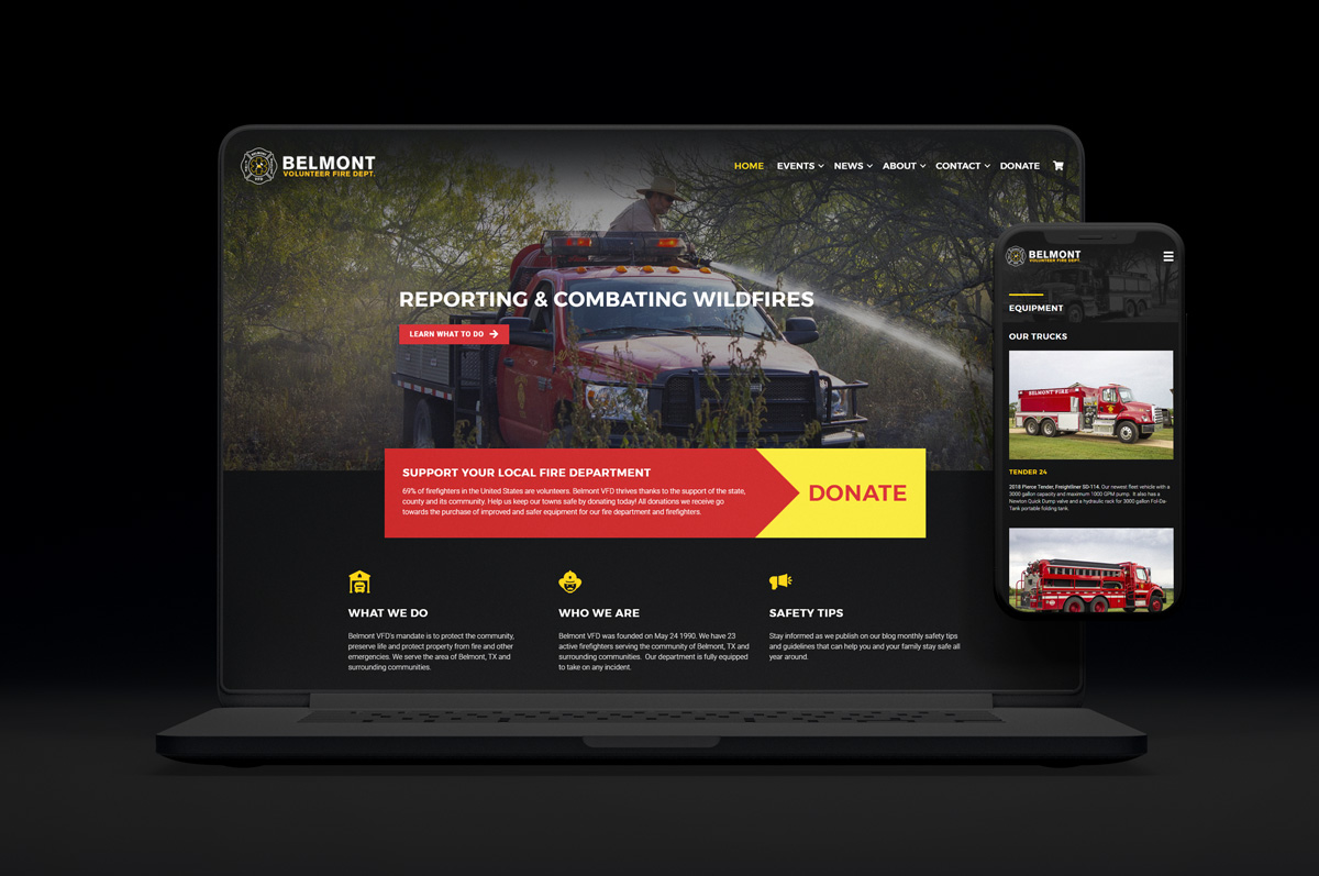 Belmont VFD Website Design & Development