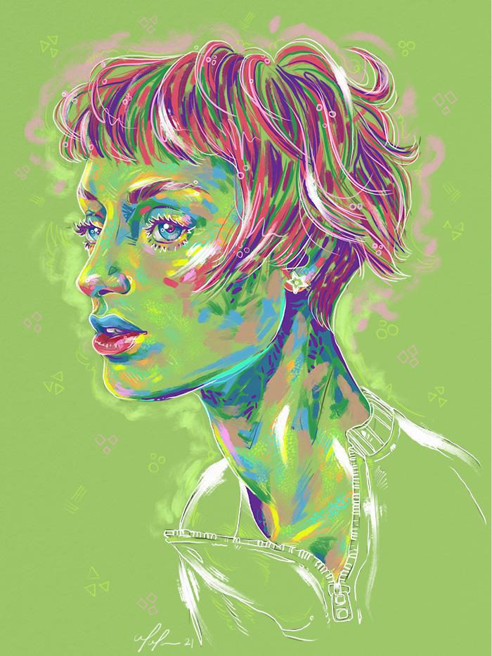 Rainbow Girl 87 by Tina Mailhot-Roberge (vervex)