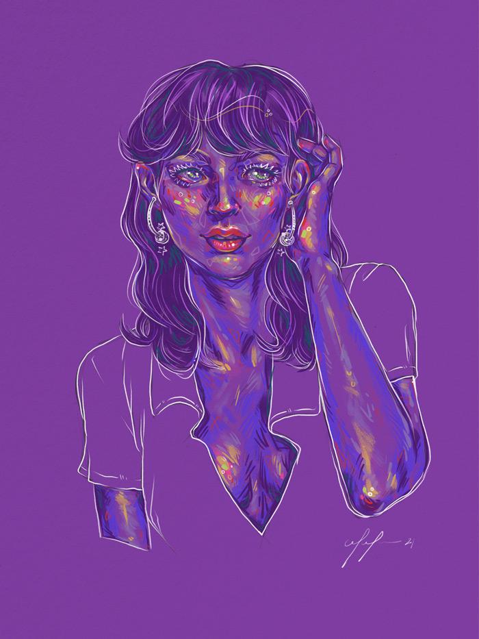 Rainbow Girl 89 by Tina Mailhot-Roberge (vervex)